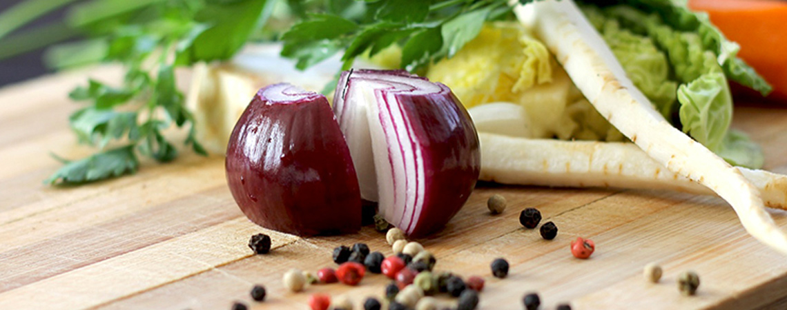 An image of a red onion for salads and salsas
