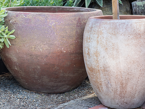 An image of large clay pots