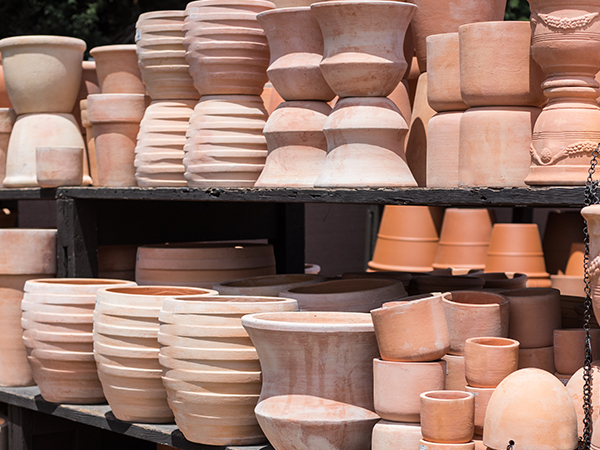 An image of terra cotta pots