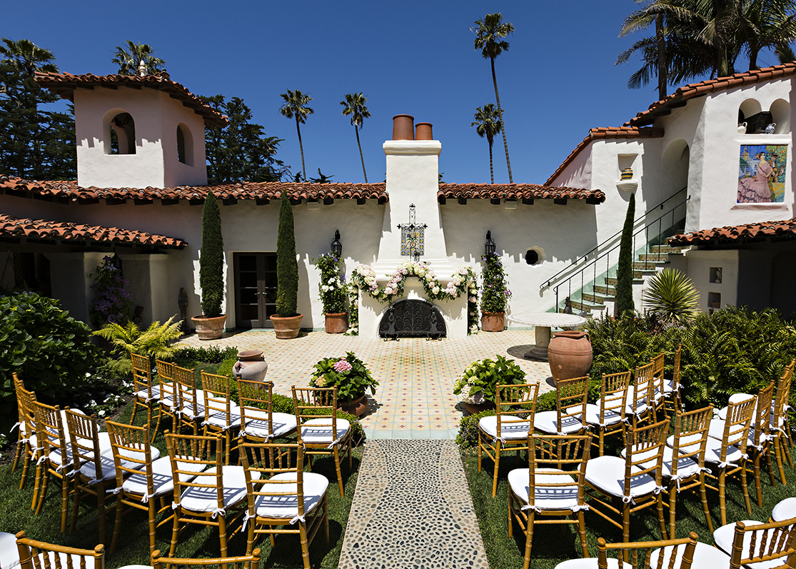 An image of the wedding set up from the Dunzer wedding