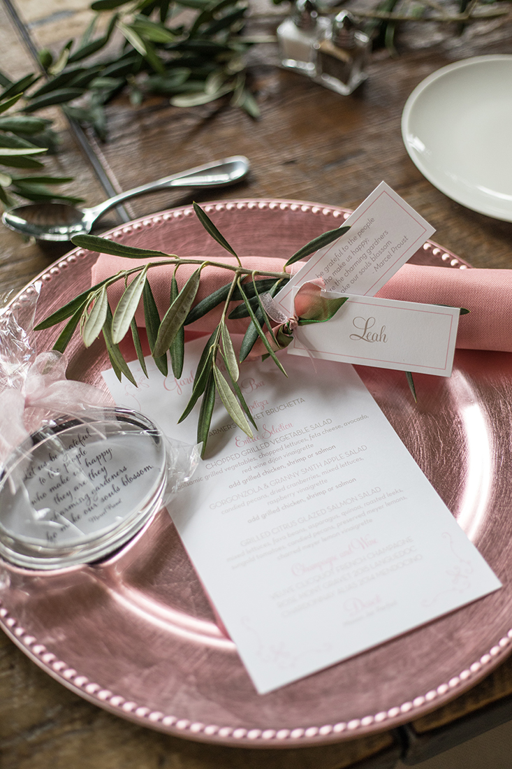 An image of a pink plate set for Farmhouse Garden Party