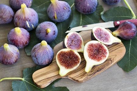 An image of Little Miss Figgy Dwarf Figs cut in half
