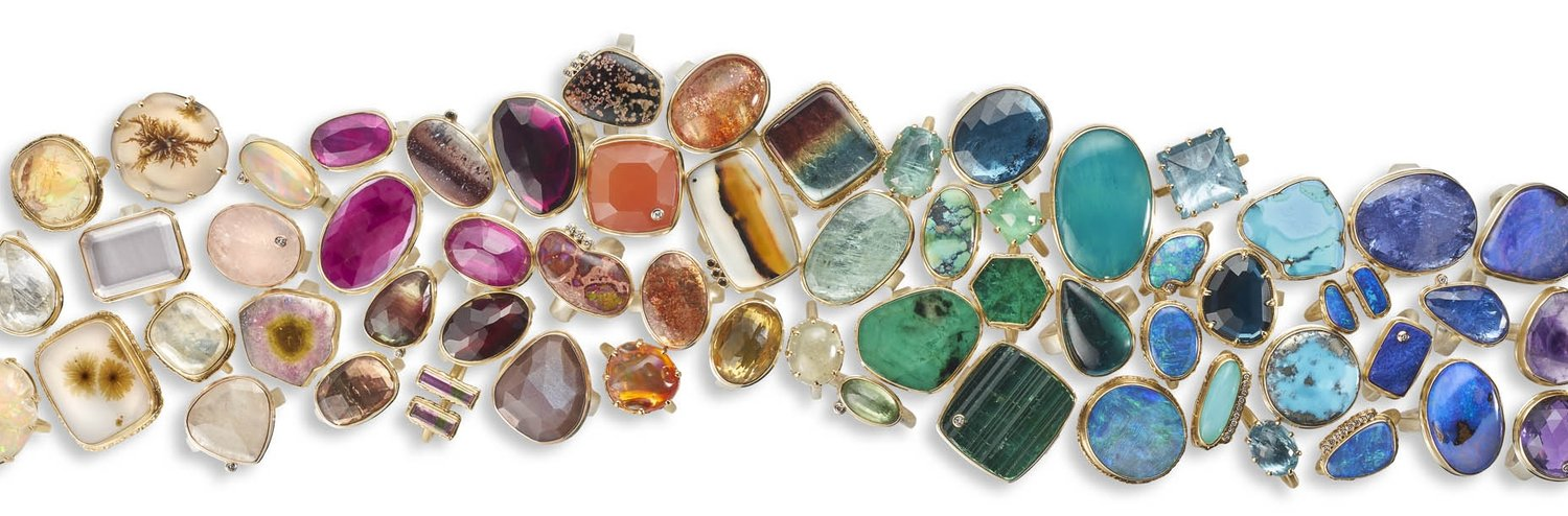 An image of stone or jeweled rings in every color from Jamie Joseph