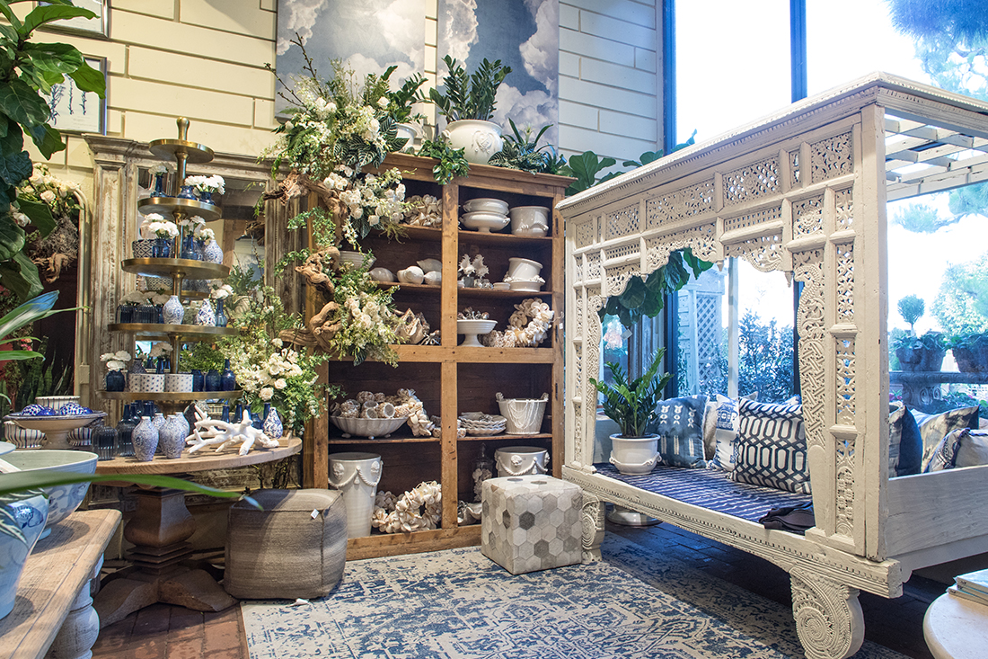 Image of Home Decor in the Gallery with Blue and White accents
