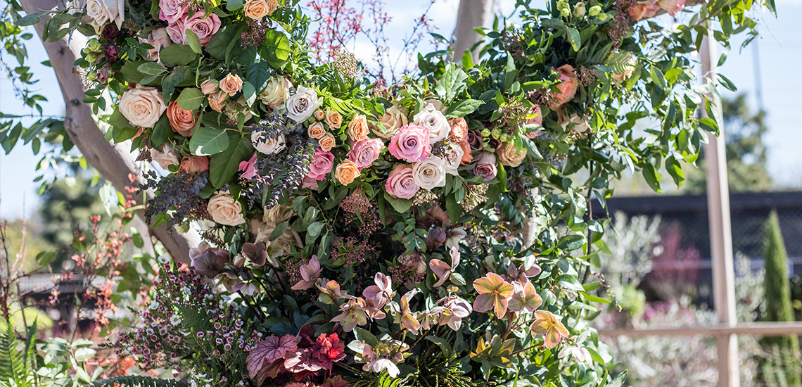 Floral Studio Design with Various Roses