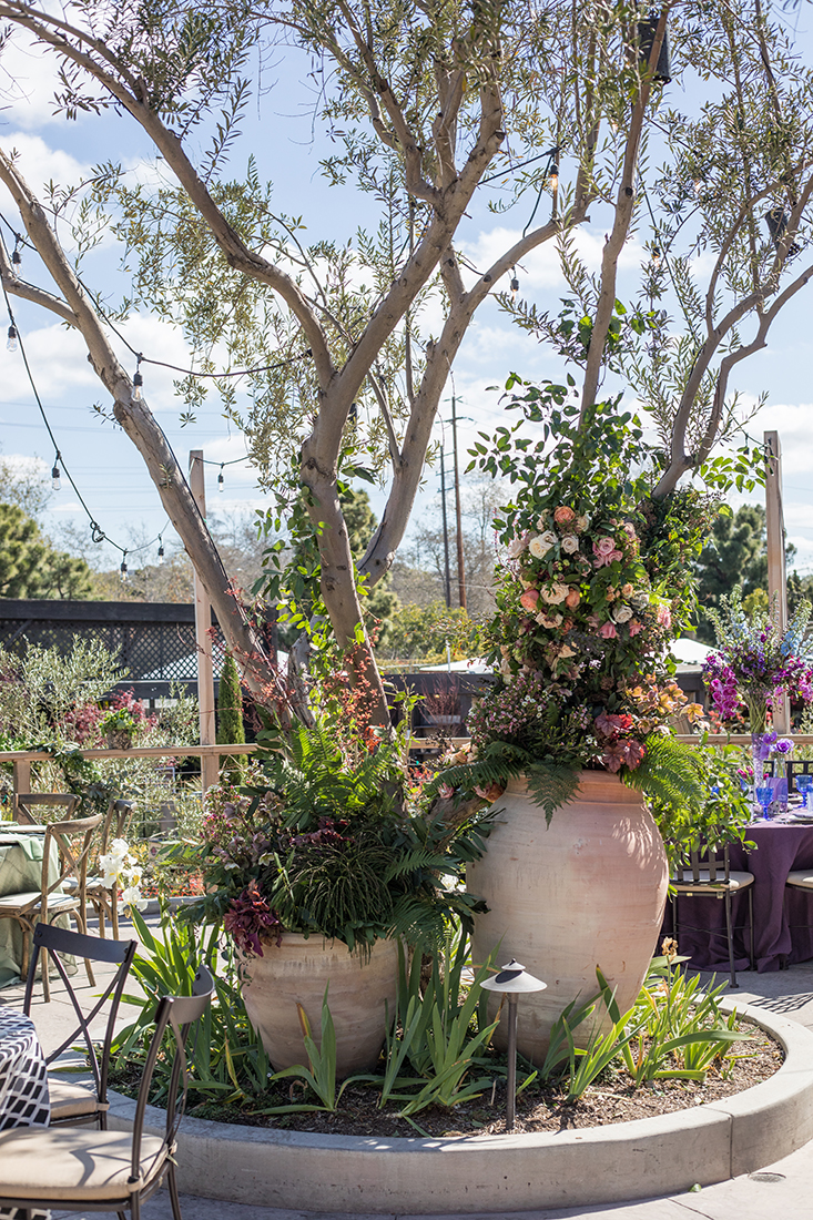 Modern Luxury Event Roses in Pottery