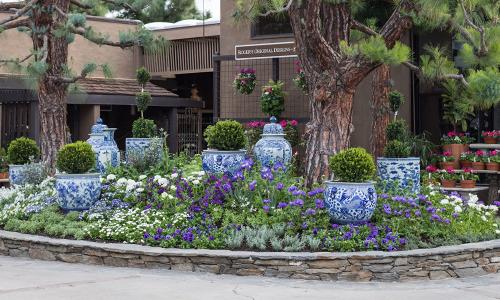 An Image of blue pots on Rg Dave Bush Island