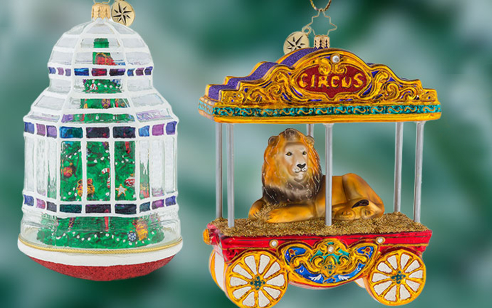 Image of Xmas Tree and Lion on Circus Carriage Ornaments