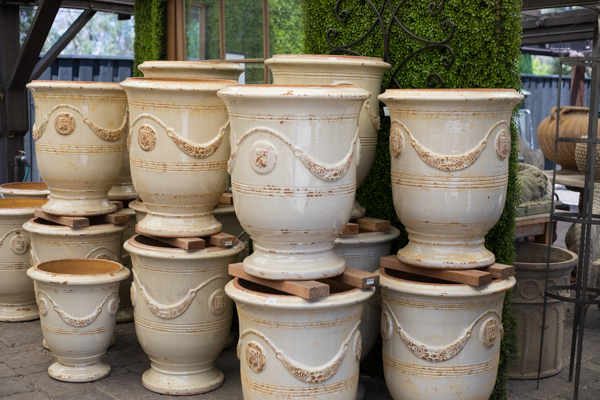 another angle of light tan pots
