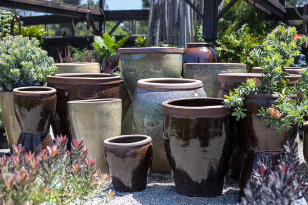An image of neutral colored pots