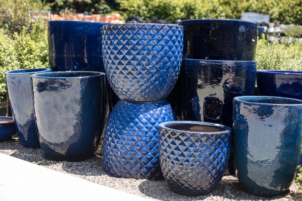 An image of blue pottery