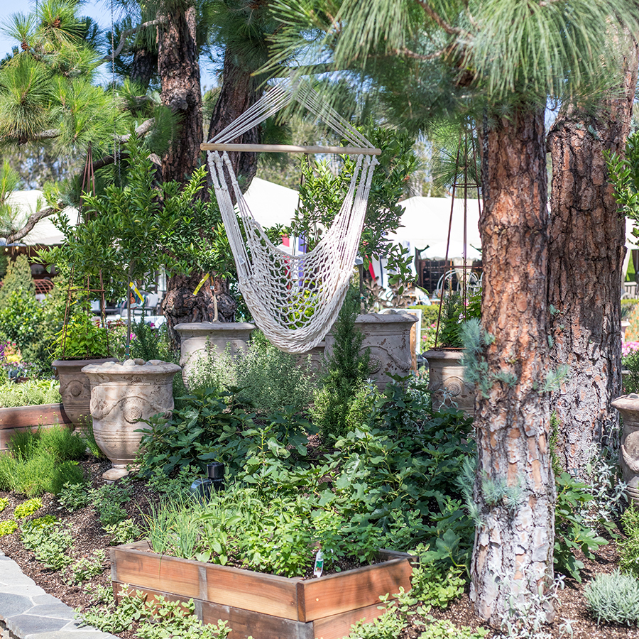 An image of a hammock for the sensory garden