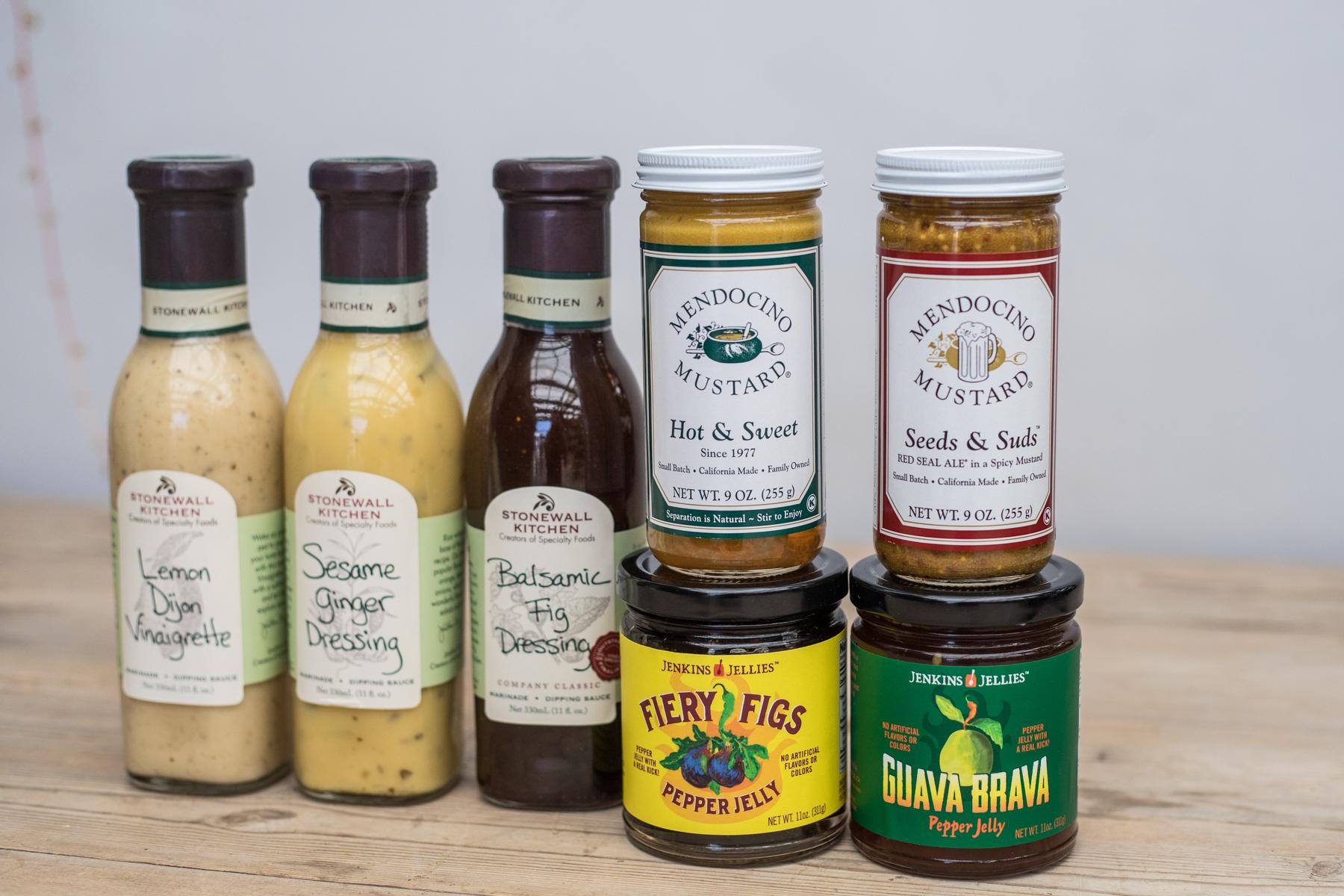 bbq rogers gardens gourmet food hot mustard dressings sauces