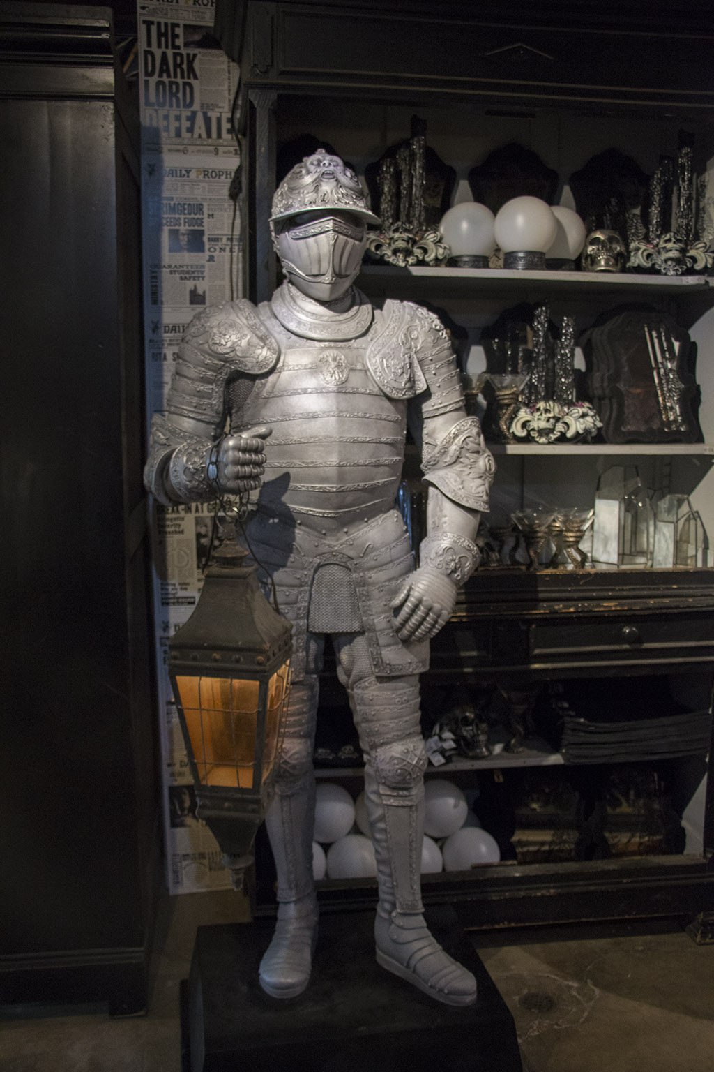 An image of a knight decoration for Halloween 2018