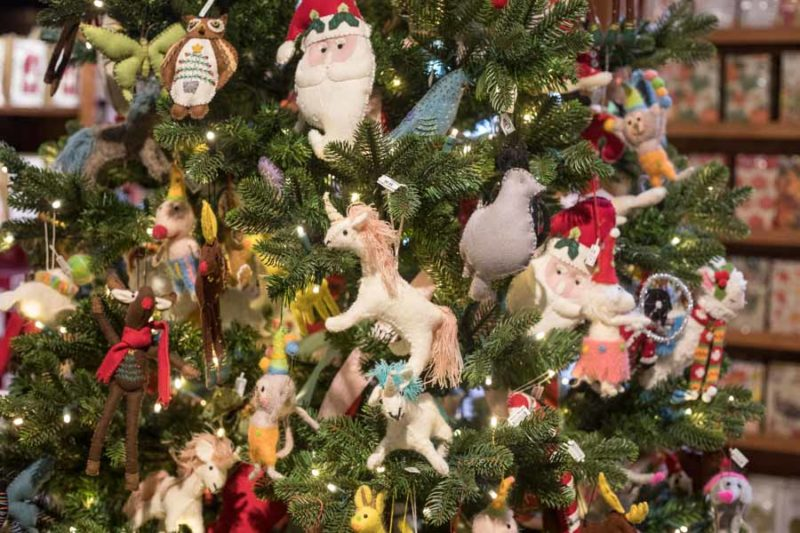 An image of the children's Christmas tree at Roger's Gardens Christmas Boutique