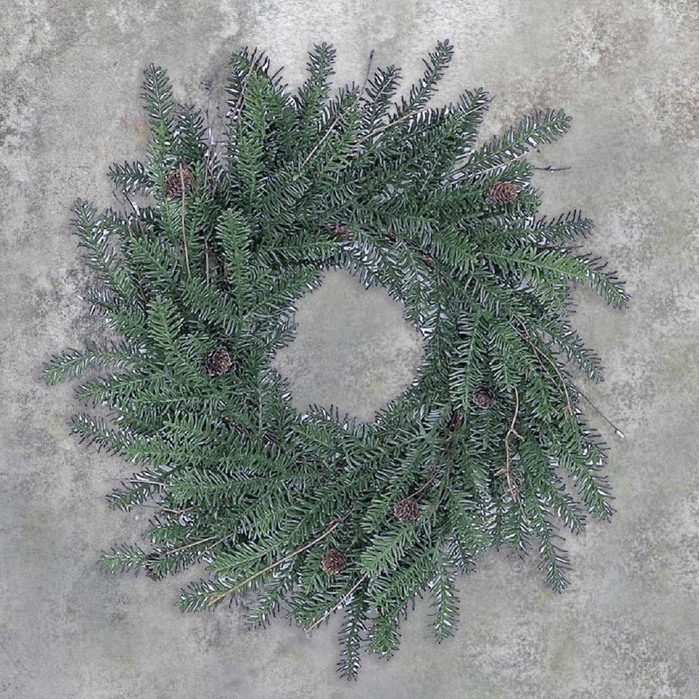 An image of a green silver fir wreath