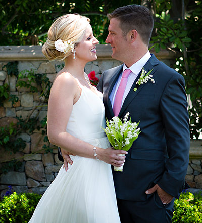 An image of the bride and groom for the Shady Feature