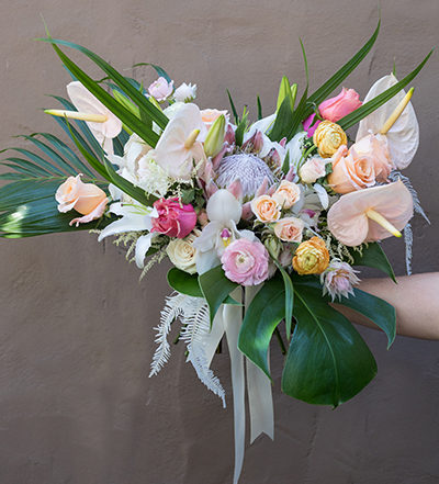 An image of brightly colored flowers for the shady feature of october bridal bouquets