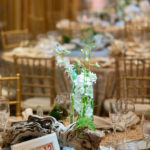 An image of a piece of driftwood as the center piece for the Saddleback Memorial Care Gala