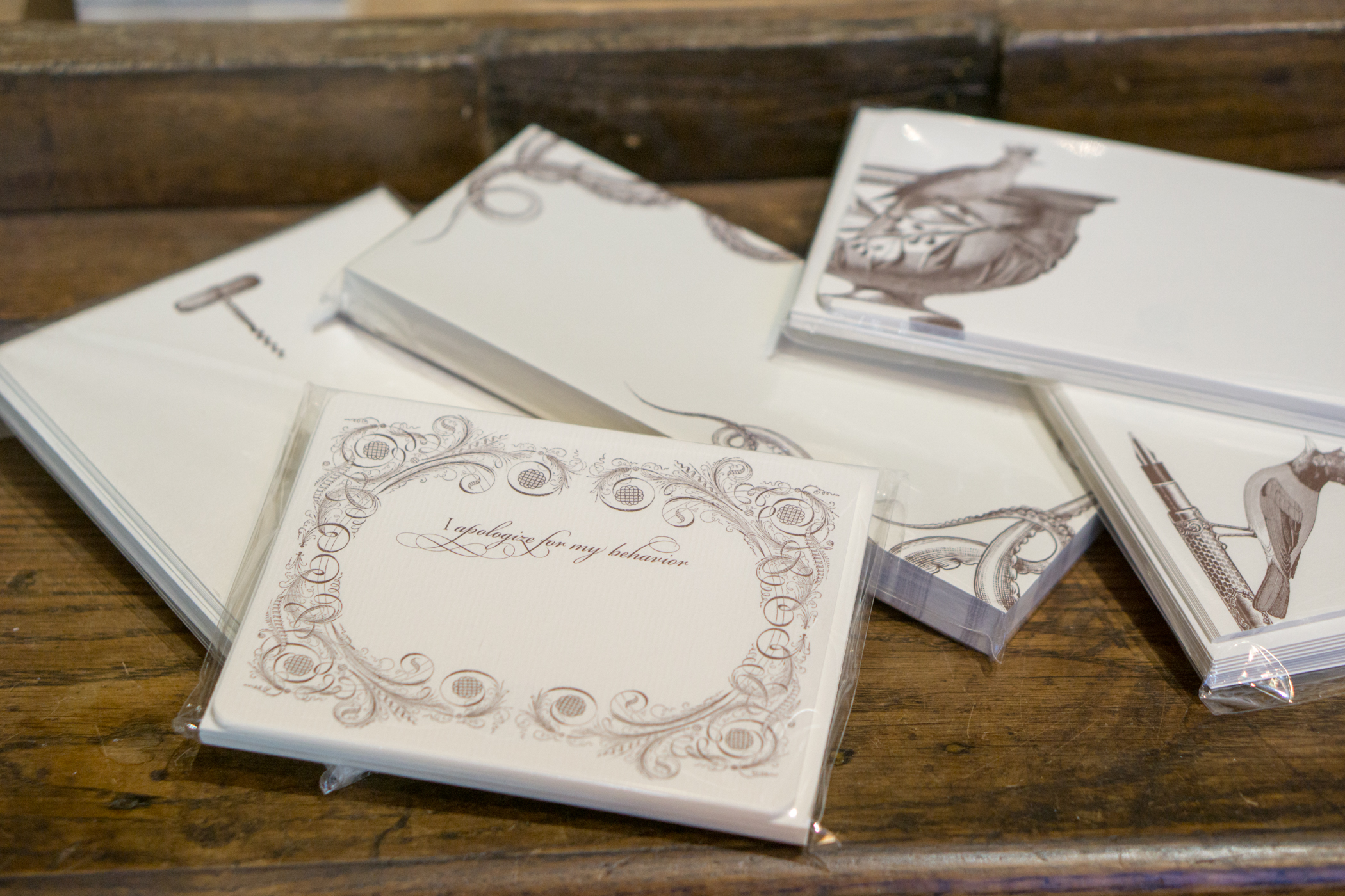 An image of graphic art paper tablets from the Alexa Pulitzer Paper Collection