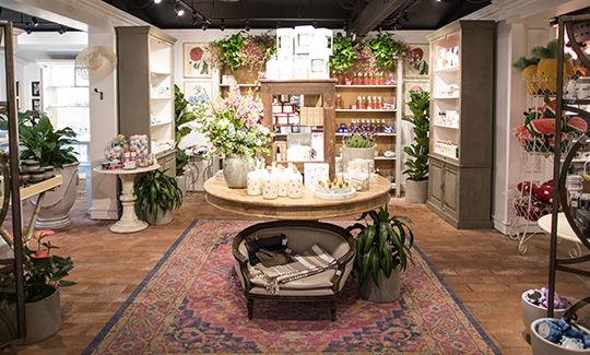 An image of the bath and body boutique at Roger's Gardens