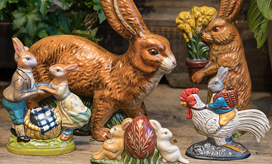 An image of different sized rabbits from collectibles Vaillancourt