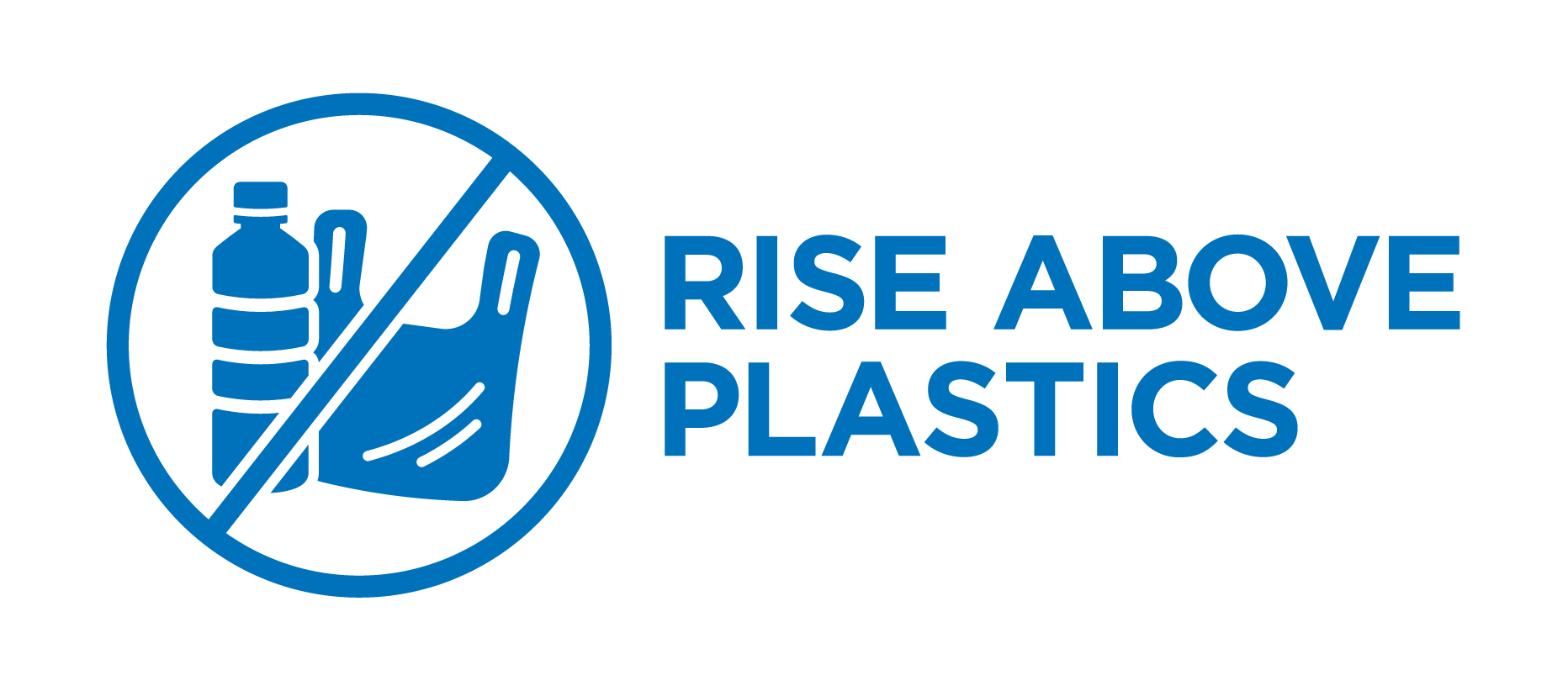 An image of the Rise Above Plastics Logo