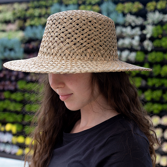 An image of a woven straw hat