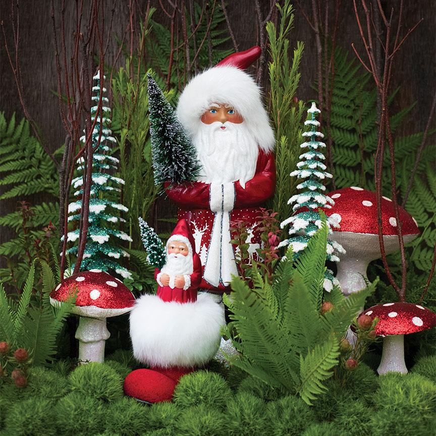 Enchanted Christmas - Santa & mushrooms
