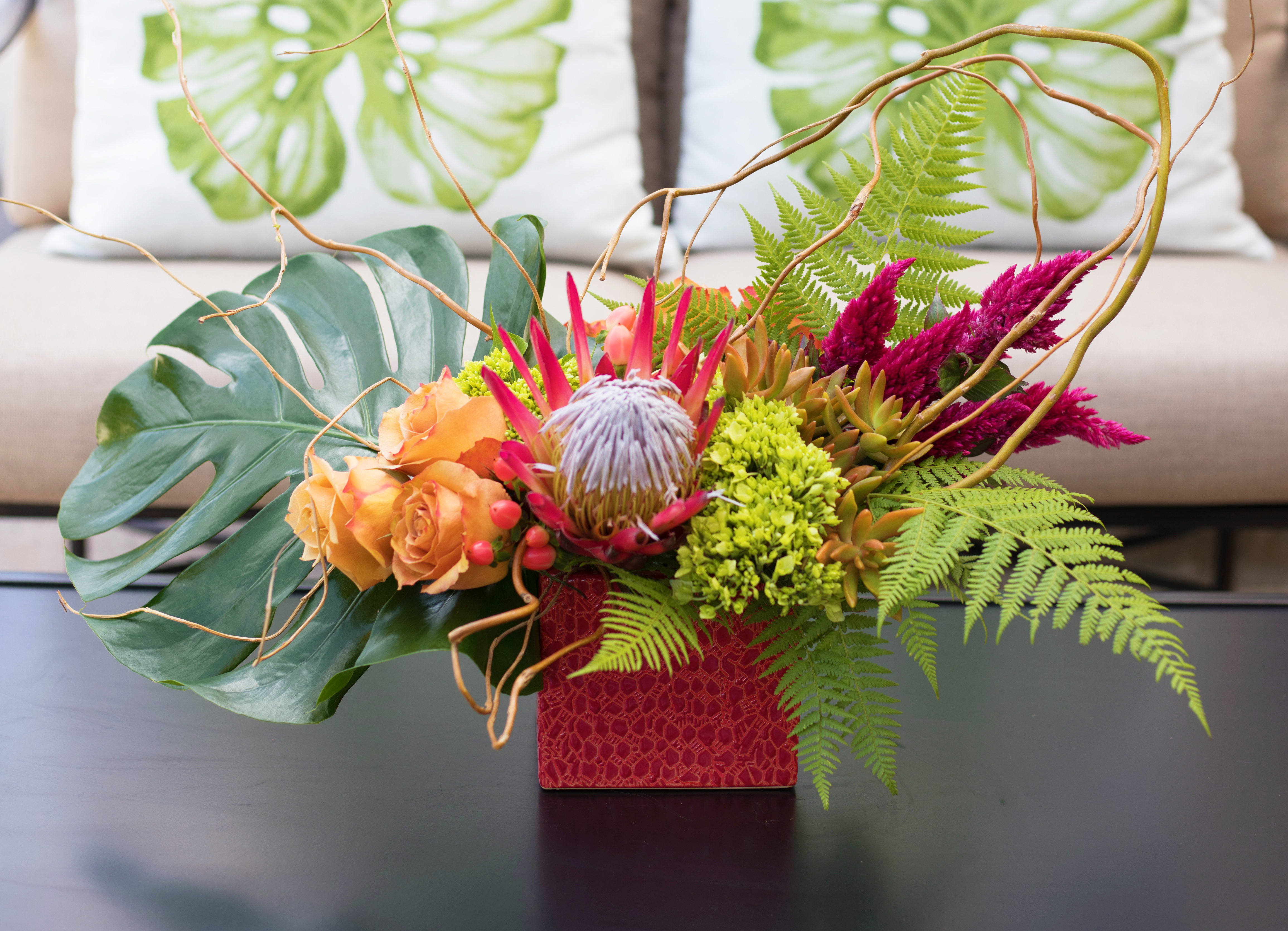 An image of a Summer Tropical Floral Arrangment