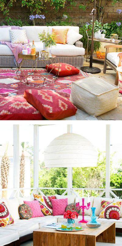 An image of a summer decortaing and entertaining inspiration outdoor living sets