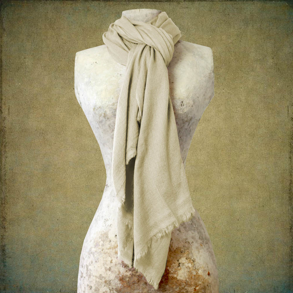 An image of a beige scarf