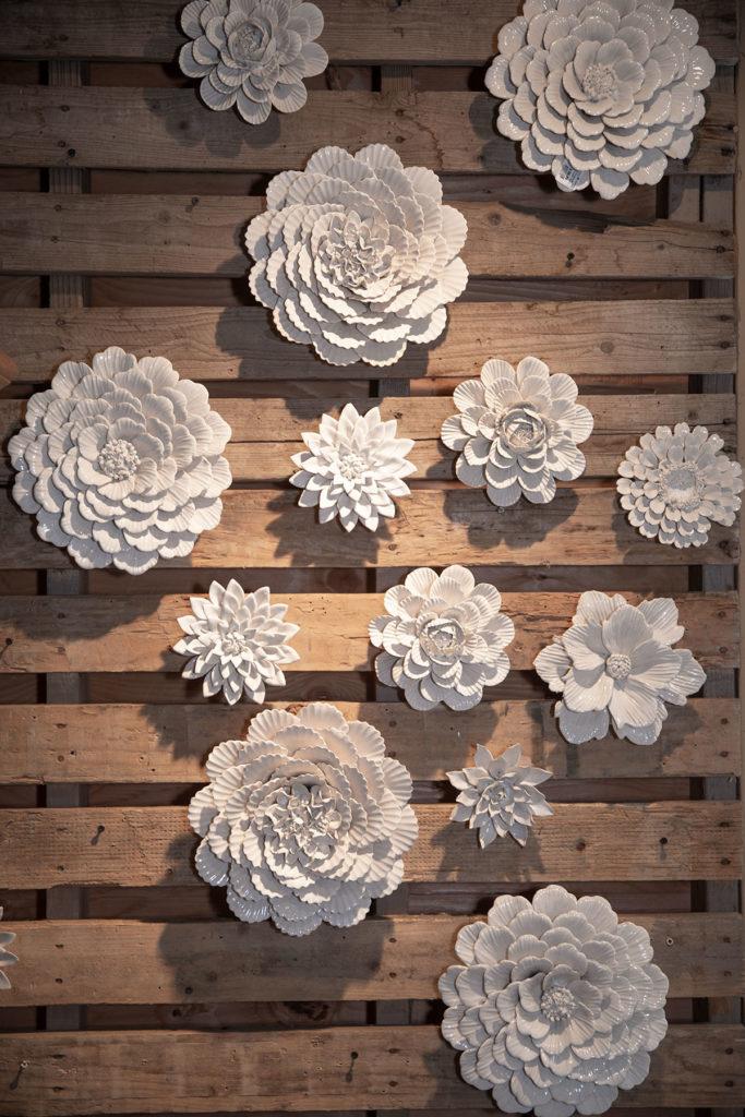 Wall White Flower Decor