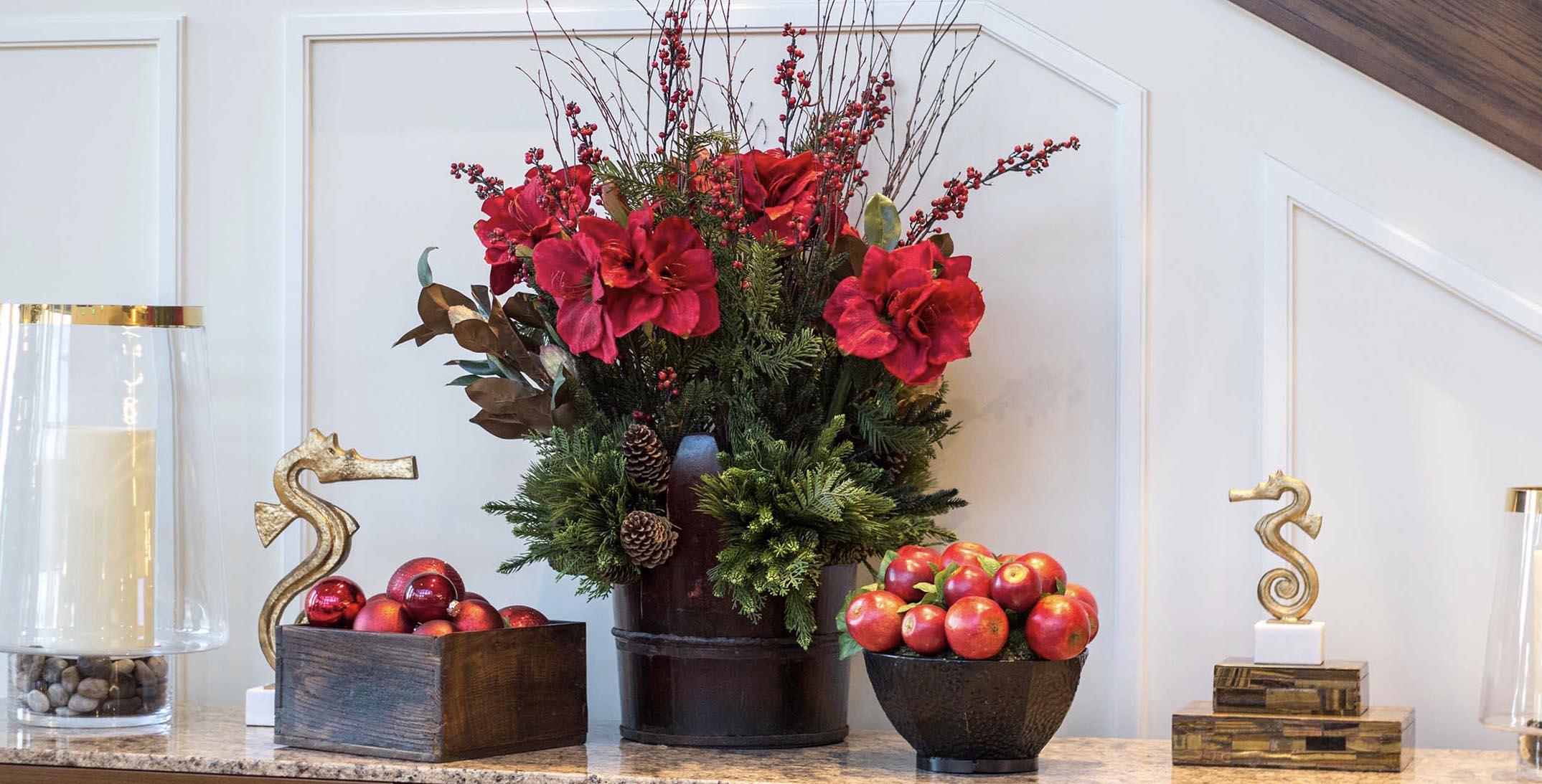 Christmas Seasonal Red Decor