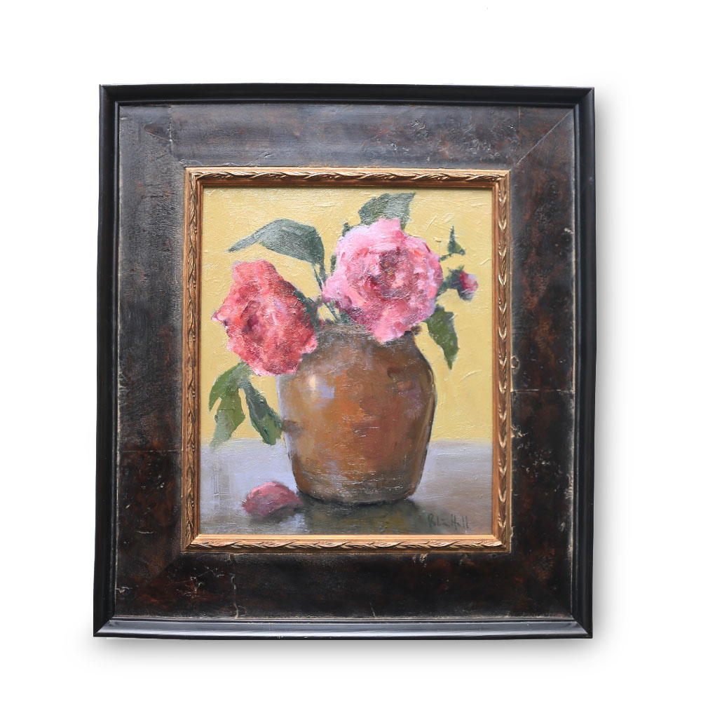 Camellias Oil on Board 9.5″ x 11″ $1600