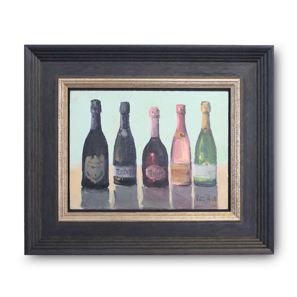 Champagne Time Oil on Canvas Panel 6″ x 8″ $800
